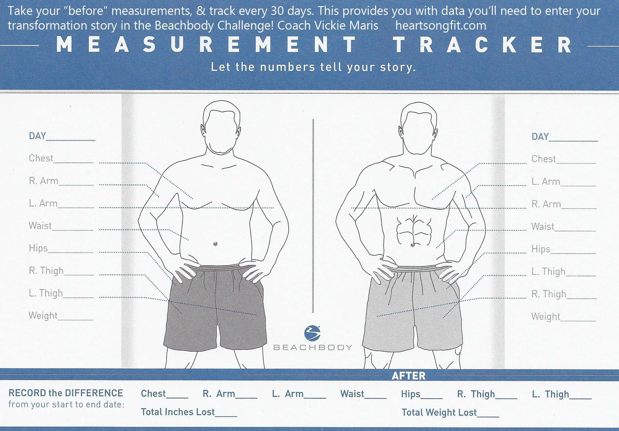 The Male Version Of The Measurement Tracker For Keeping