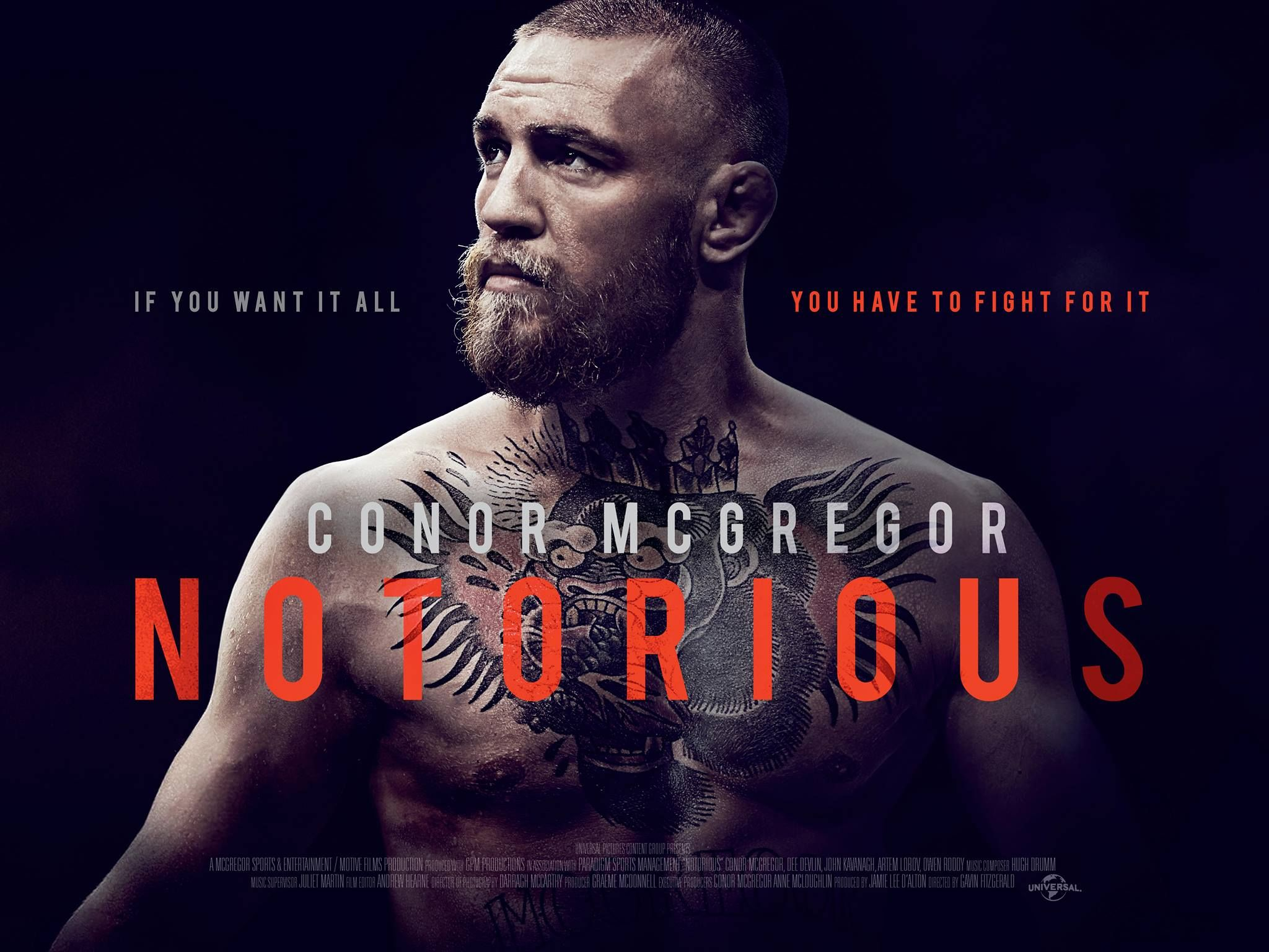 Per A Recent Tweet From Universal Pictures One Of The Most Inspiring Person In Sportsmanship Conor The Notorious M Conor Mcgregor Notorious Mcgregor Mcgregor