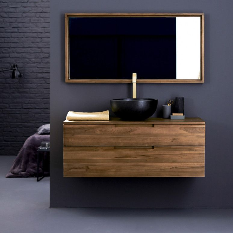 meuble sous vasque en teck 115 baker in 2019 meubles. Black Bedroom Furniture Sets. Home Design Ideas
