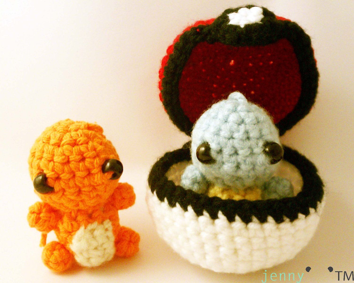 crochet keychain - Pokemon Starter Set of 2. $19.00, via Etsy ...
