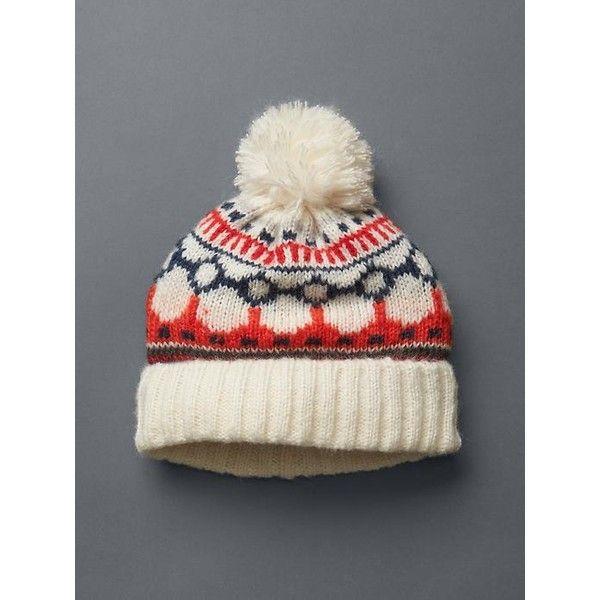 Gap Women Fair Isle Pom Pom Hat ($25) ❤ liked on Polyvore ...