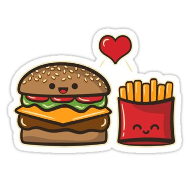 Burger And Fries Sticker By Fishbiscuit En 2021 Hamburguesa Con Papas Hamburguesas Dibujos Papas Fritas Dibujo