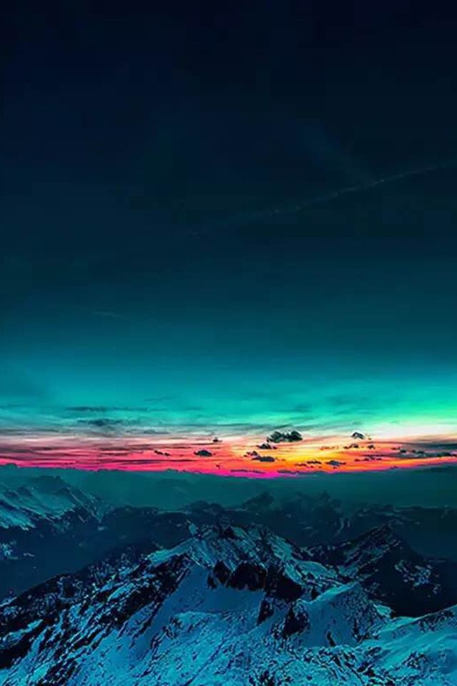 sky on fire mountain range sunset iphone 4s wallpaper iphone 4