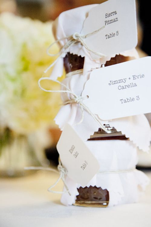 Clever Wedding Favors And Table Ignments Idea Homemade Fig Preserves