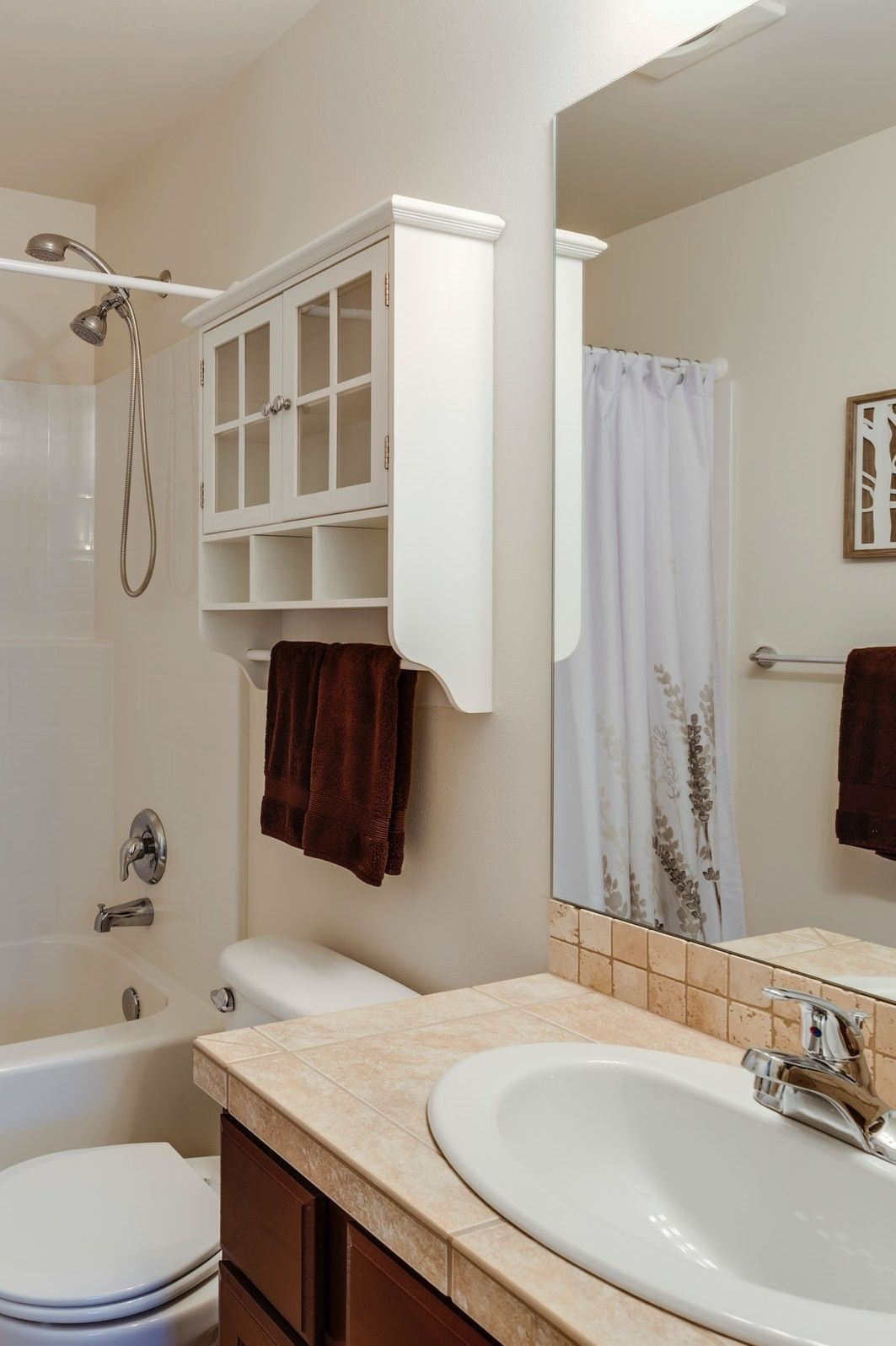 8 Clever Tricks On How To Make A Small Bathroom Look Bigger In 2020 Bathroom Makeovers On A Budget Master Bathroom Decor Bathroom Design