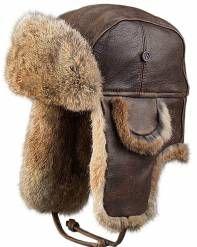 915b7c5bcad3d Dark Brown Leather Pilot Hat for Men. Mad Bomber Hats   Aviator Hats