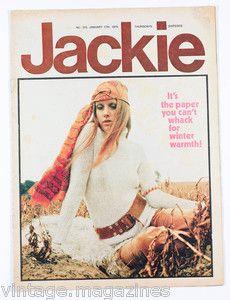 The Jackie magazine, ah, teenage years....