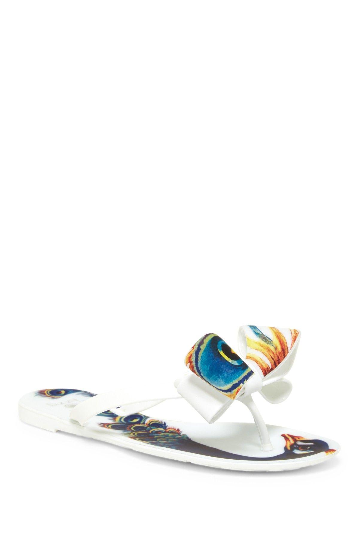 b104c67c3 Dizzy Matte Peacock Bow Flip-Flop