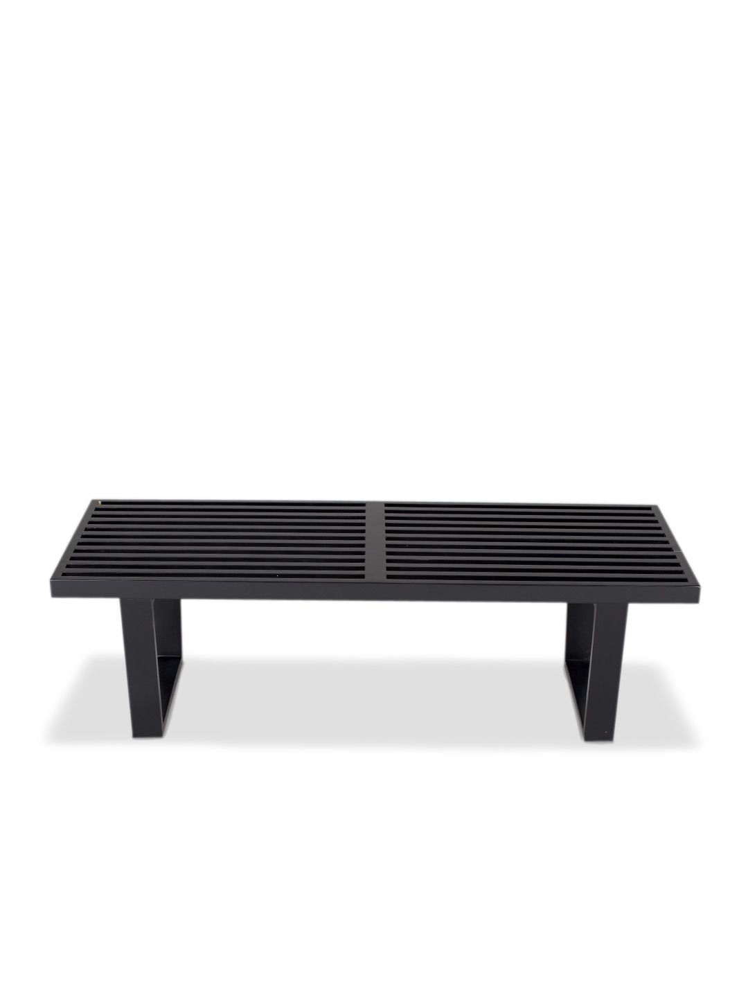 Slatted Bench Black (4 Ft) By Pangea Home At Gilt