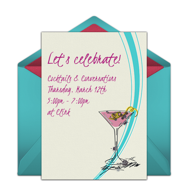 Free Happy Hour Cocktails Invitations Invitations