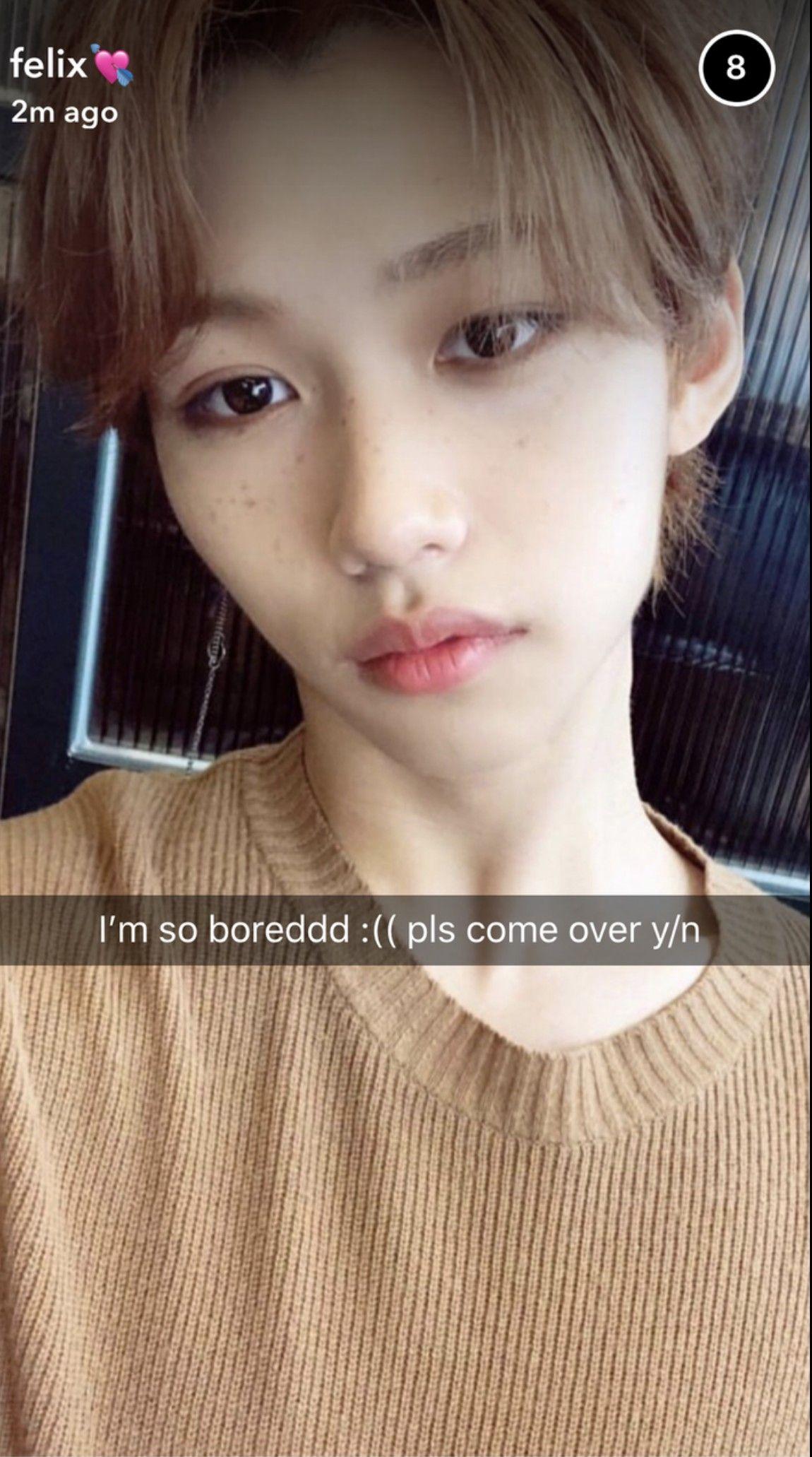 Lee Felix Boyfriend Snapchat Au Stray Kids Lee Felix Boyfriend Snapchat Kpop Felix Stray Kids Kids Snapchat Boyfriend Kpop