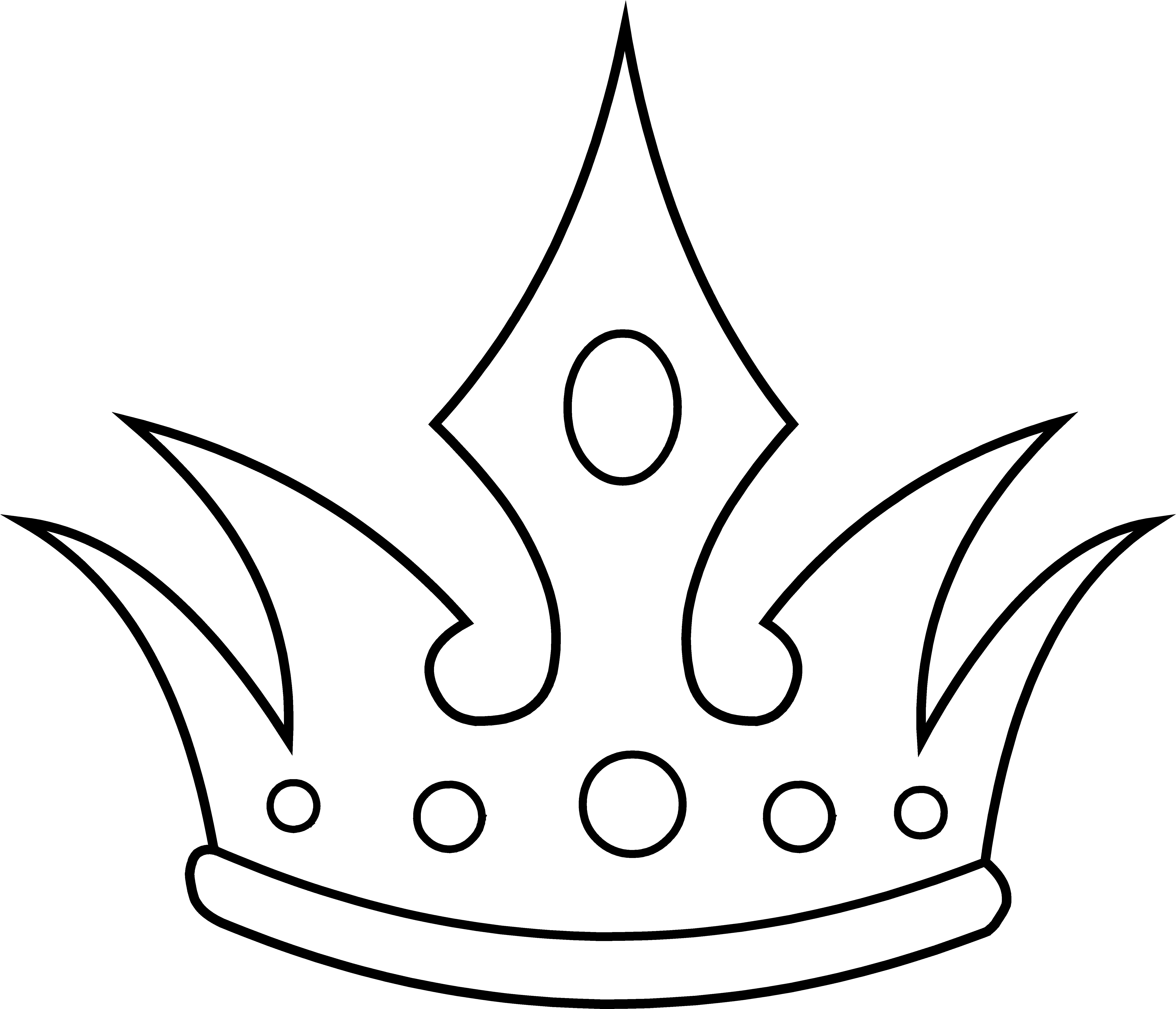 pointed crown line art free clip art coloring pages
