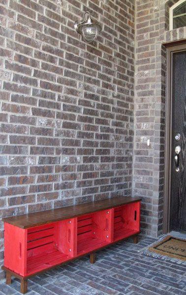 D co r cup des meubles faire avec des caisses en bois diy pinterest mobilier de salon - Meuble tv caisse bois ...