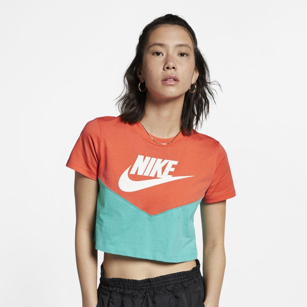 fa39f638 Nike Sportswear Heritage Women's Short-Sleeve Top Size M (Cabana) in ...