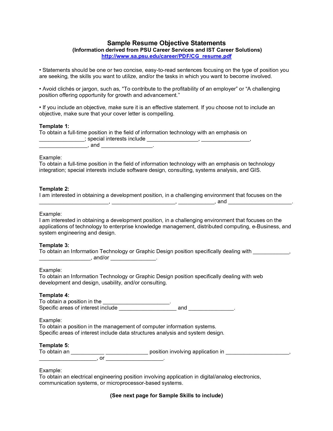 name address phone career objective international business