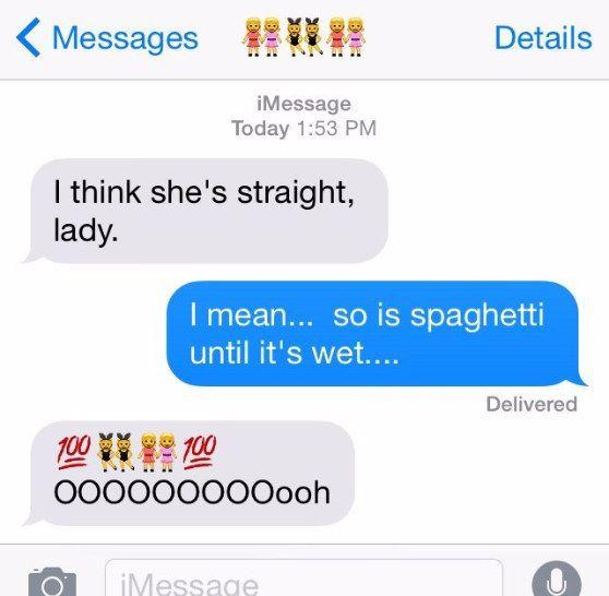 Lesbische Straight Girl Strap