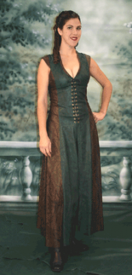 7b37d4bbdb Archers Long Dress from Ravenswood Leather. Also has an optional hood.