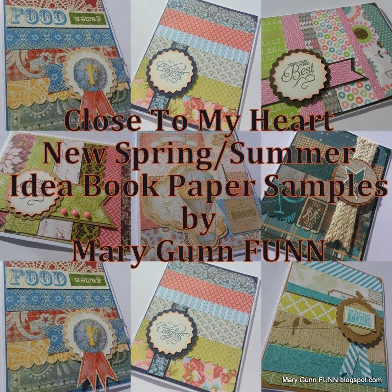 Mary Gunn FUNN - new Spring/Summer Idea Book paper pack sample cards - Sample Cards