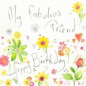 My Fabulous Friend Happy Birthday Card Saludos