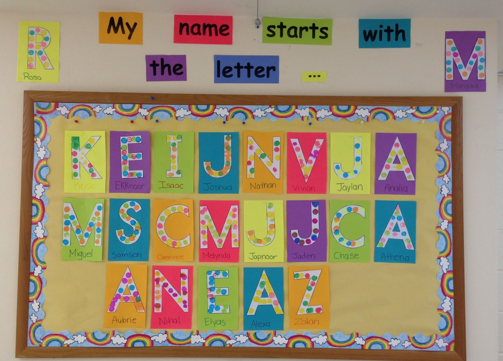 First Letter Of Child S Name Recognition Using Letter