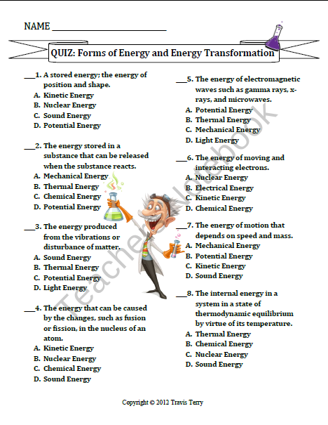 test forms of energy energy transformations product from mrterrysscience on teachersnotebook. Black Bedroom Furniture Sets. Home Design Ideas