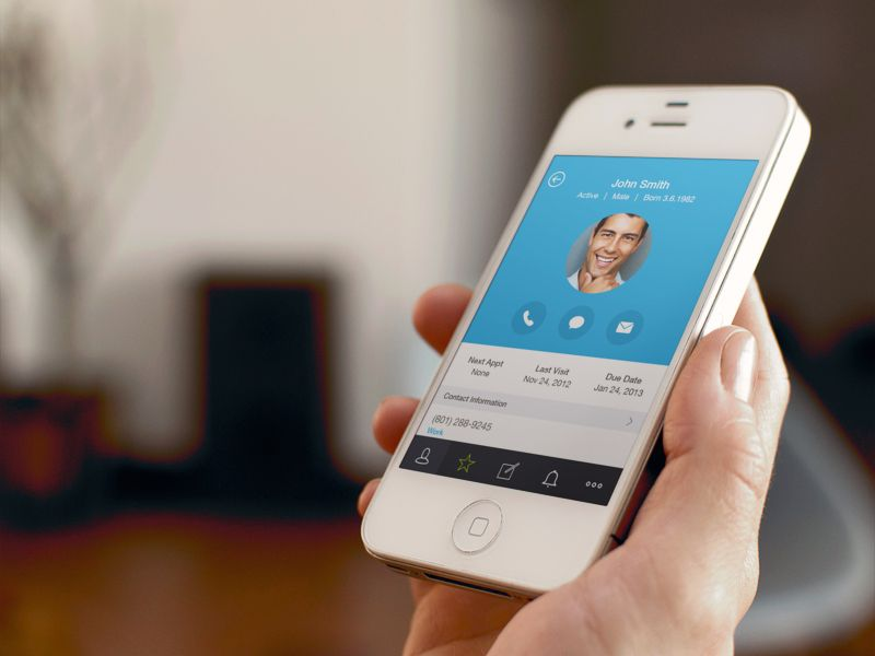 Dental App Profile With Images Dental App Mobile Interface