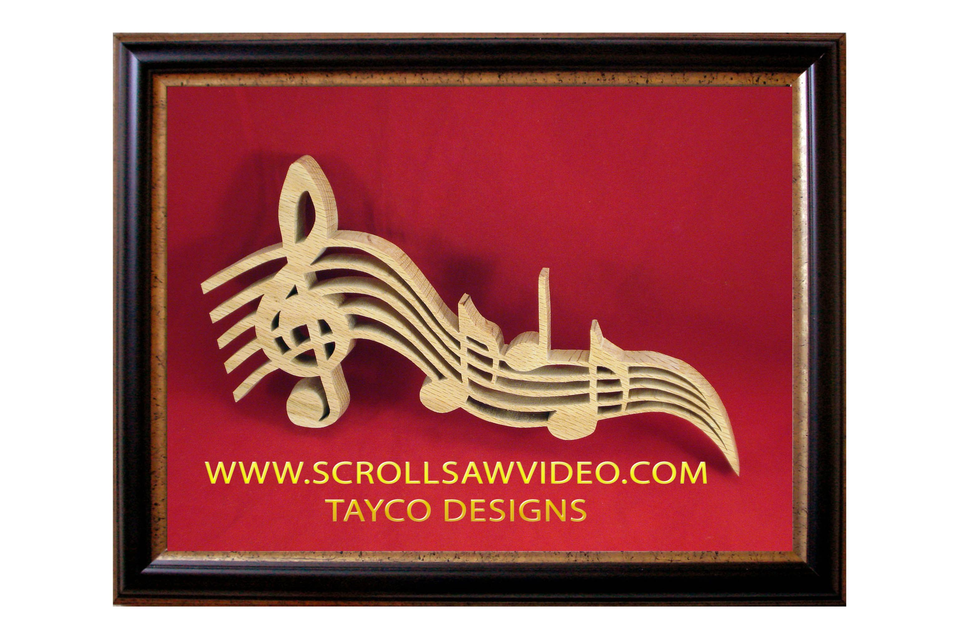 scroll saw patterns for teachers | 1135 music scale copy