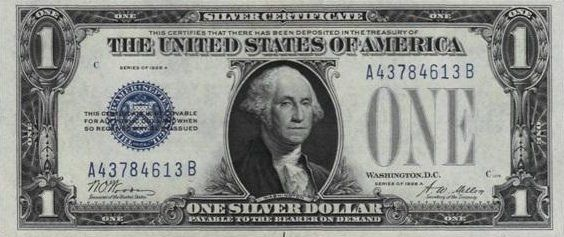 One Dollar Bill Actual Size