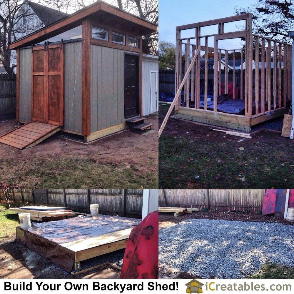 Building A 10x10 Backyard Shed Modern Design With Barn Door Hardware Modern Shed Shed Building A Shed