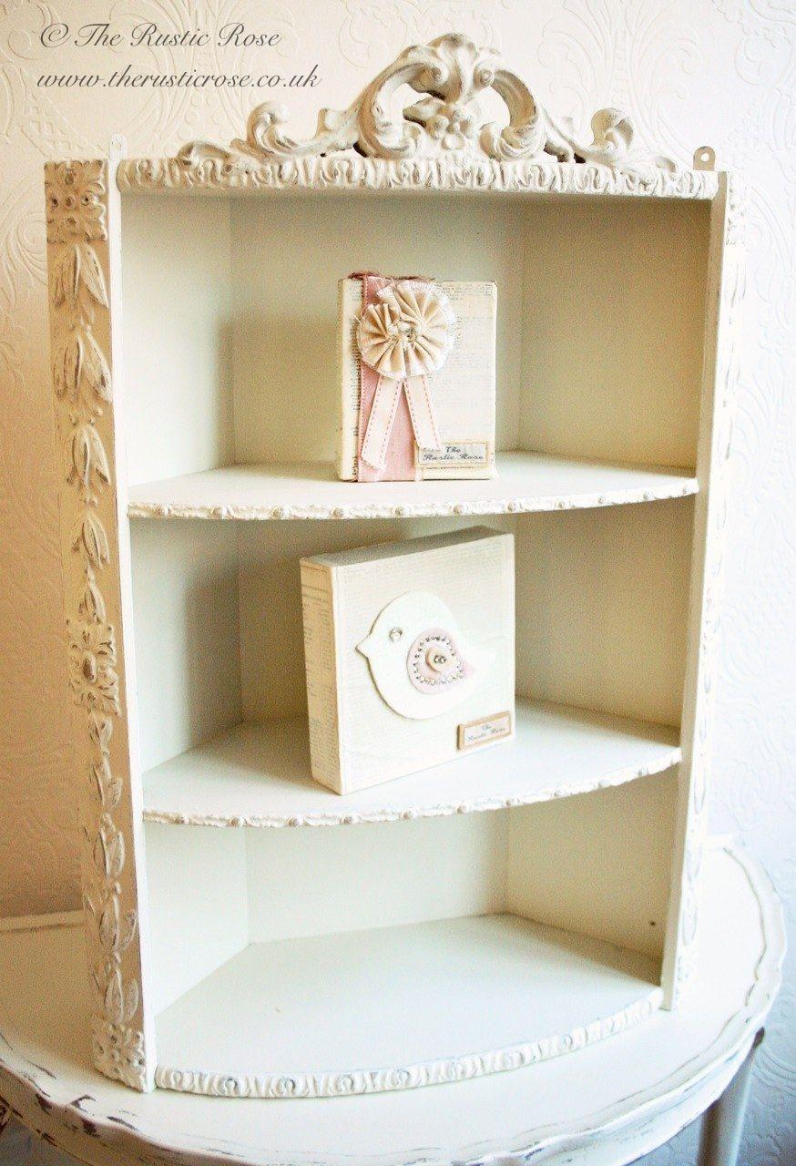 sweet shabby chic corner shelves shelves pinterest corner rh pinterest com shabby chic corner wall shelves white shabby chic corner shelf