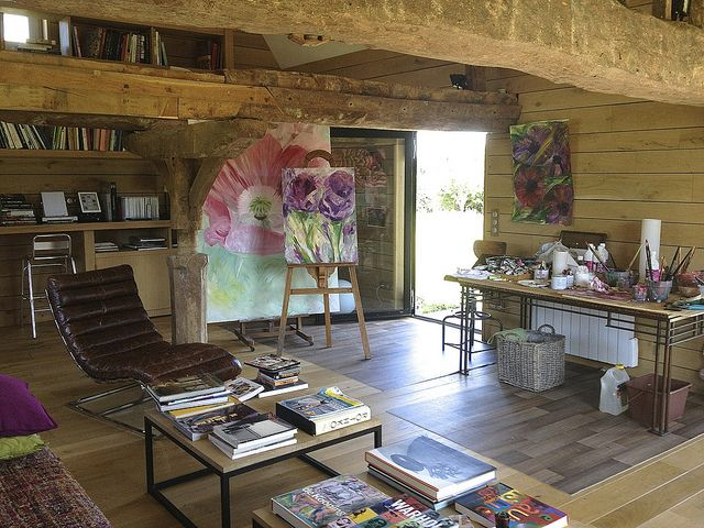 Beatrice Augier's personnal studio in Normandy France