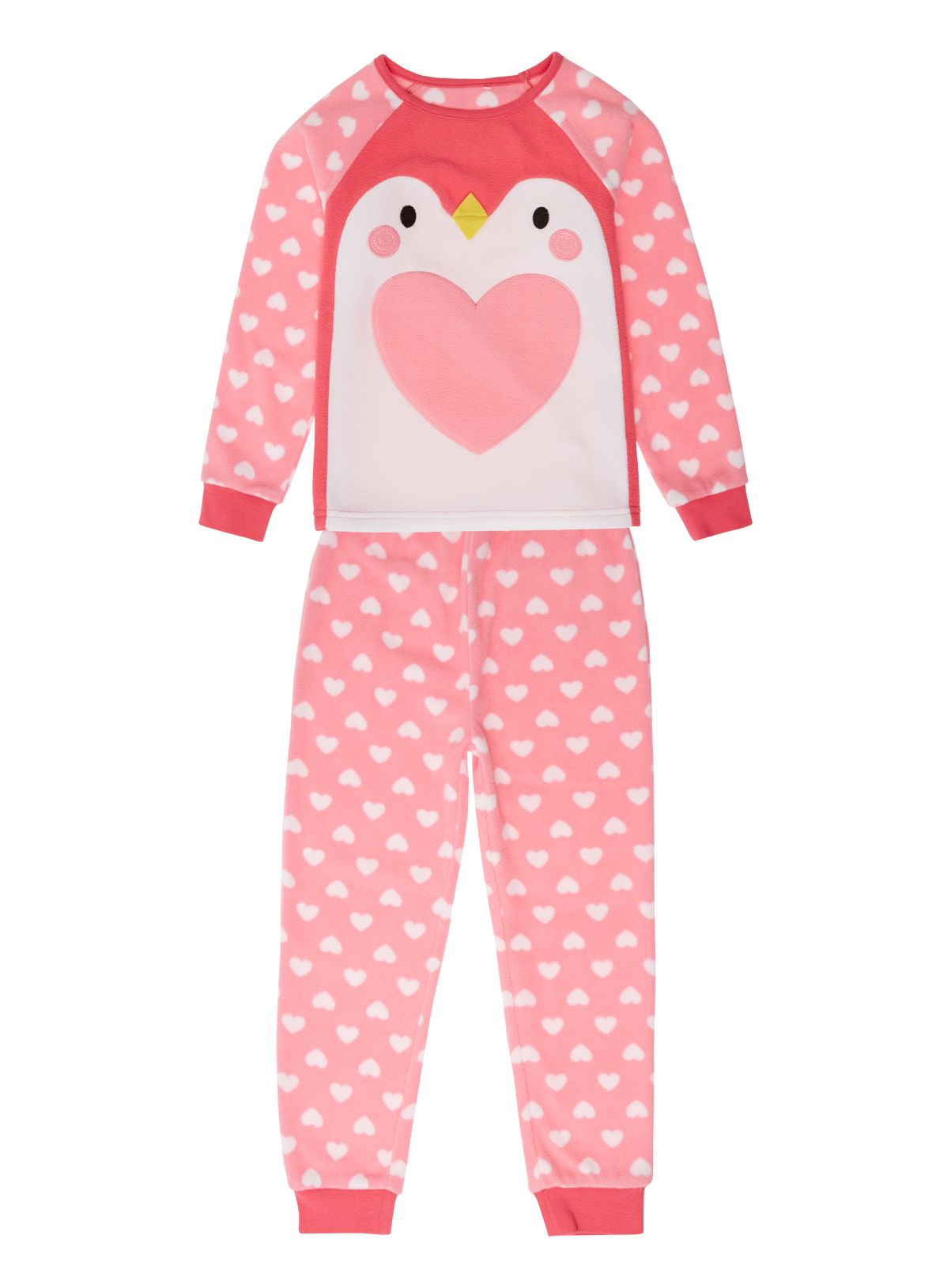 9f866f730d41 Girls Girls Pink Fleecy Penguin Pyjamas (2-12 years)