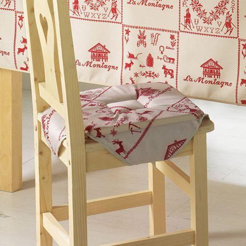 galette de chaise montagne luge rouge