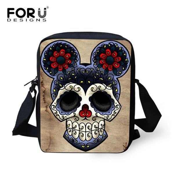 Designer New Travel Mini Shoulder Bags Women Cool Punk Skull Fashion  Messenger Bags Men s Crossbody Casual d965909773d3e