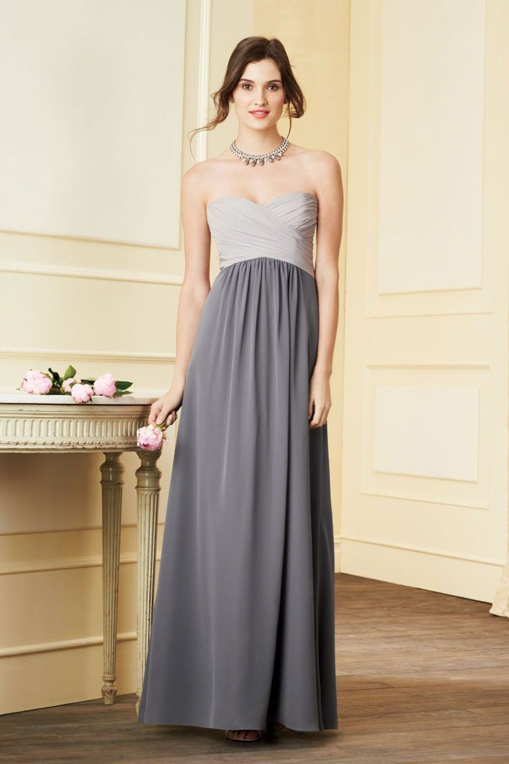 Grey bridesmaid dress light grey dark grey beautiful alfred angelo bridesmaid style can get two toned in any of their colors theres a slate teal that would look great on top and a deep teal for the bottom ombrellifo Choice Image