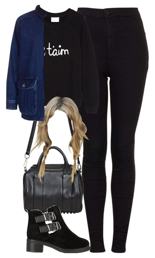 """""""Untitled #1846"""" by hiitsbre ❤ liked on Polyvore featuring Topshop, Alexander Wang and Ganni"""