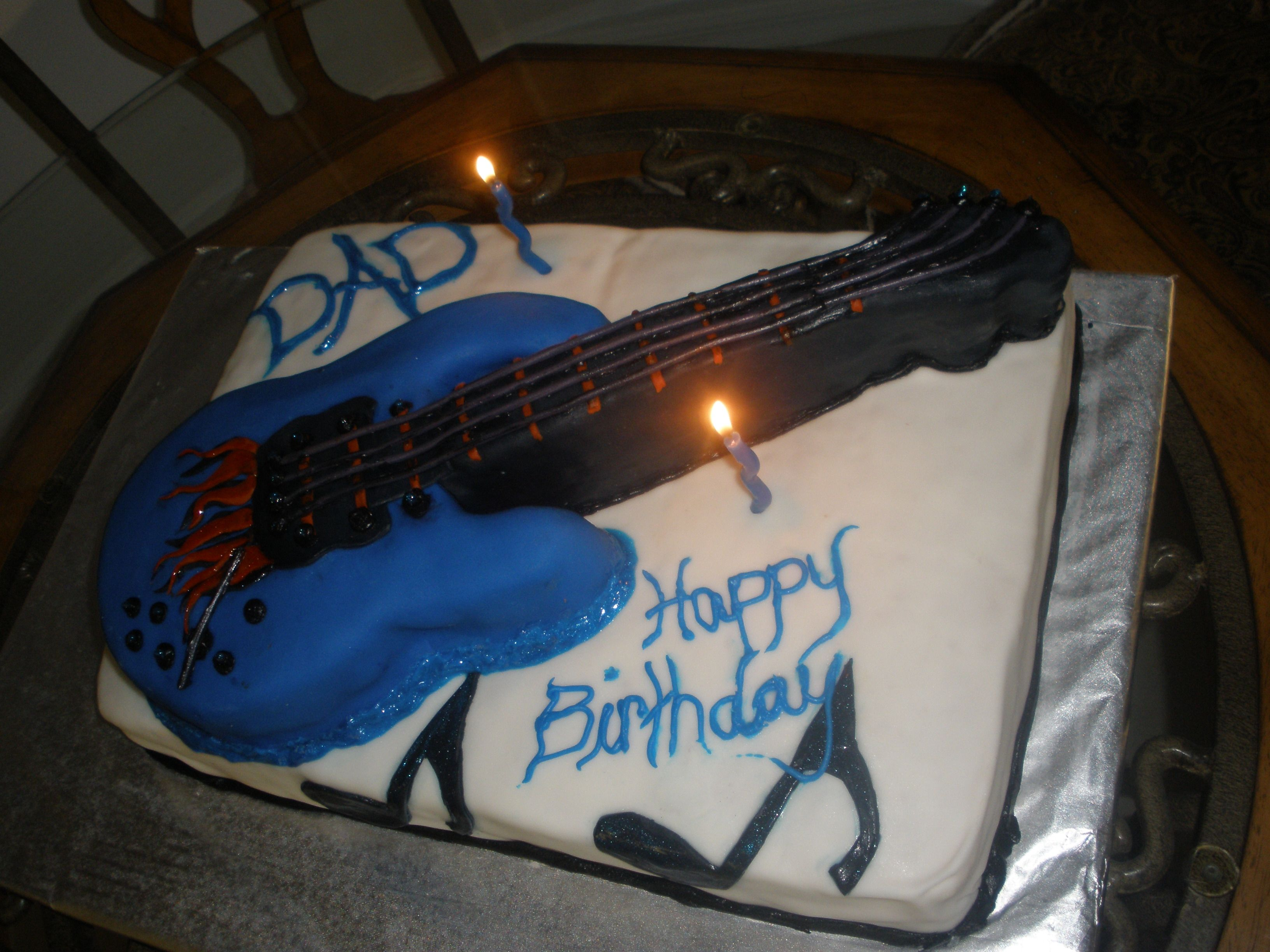 A Rock Star birthday cake I made for my dads birthday!