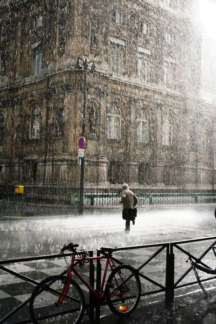 Very Rainy Day In Paris Smukke Billeder Baggrunde Billeder