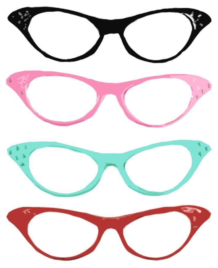 aa23e68e223 printable cat eye glasses templates