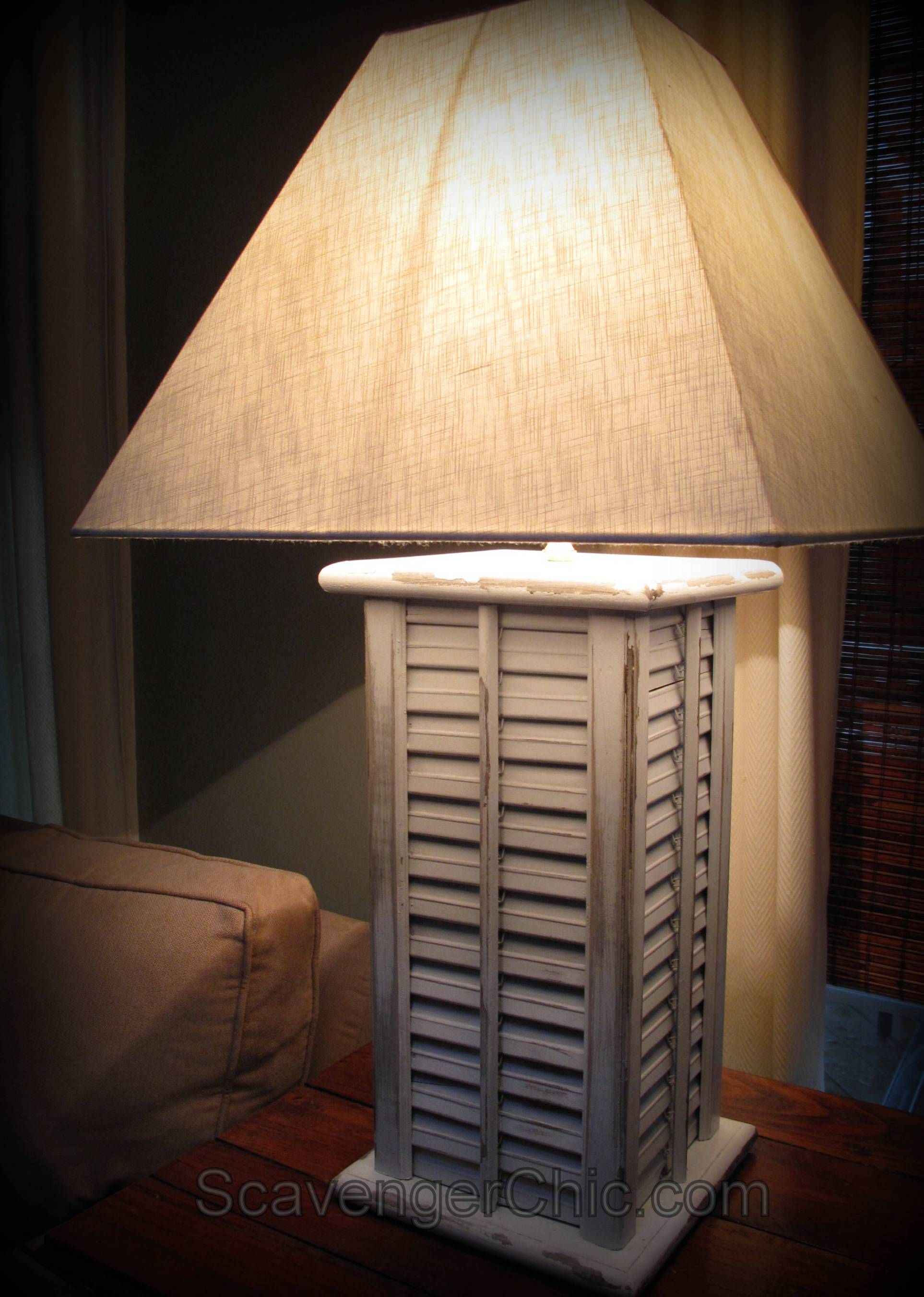 Upcycled, Recycled Shutters Lamp diy | DIY Ideas | Pinterest | DIY ...