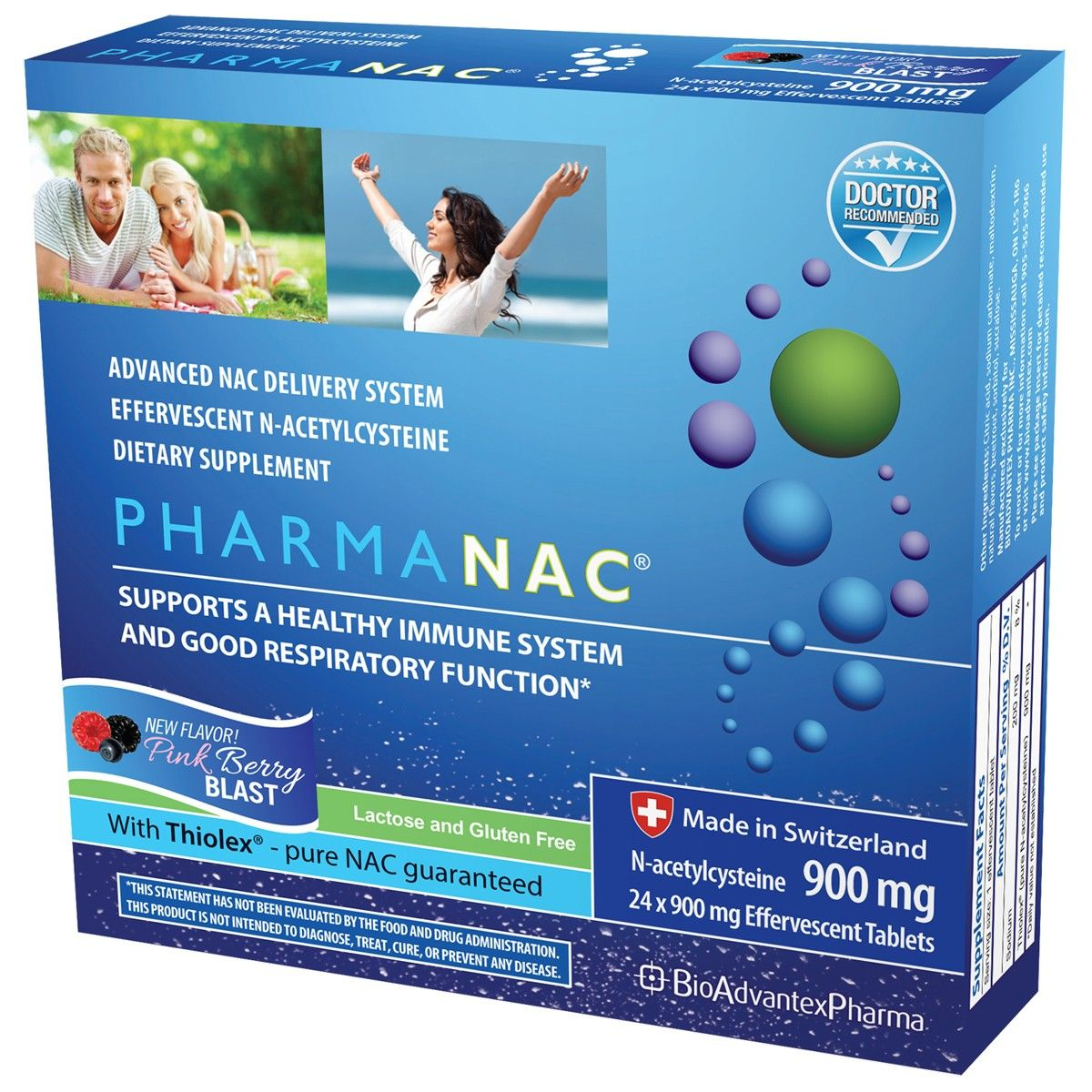Pharmanac 900mg Effervescent Tablets Pure N Acetylcysteine Nac Pink Berry Blast Each Box Contains 24 Effervescent Tablets In 2020 Pure Products Tablet Berries