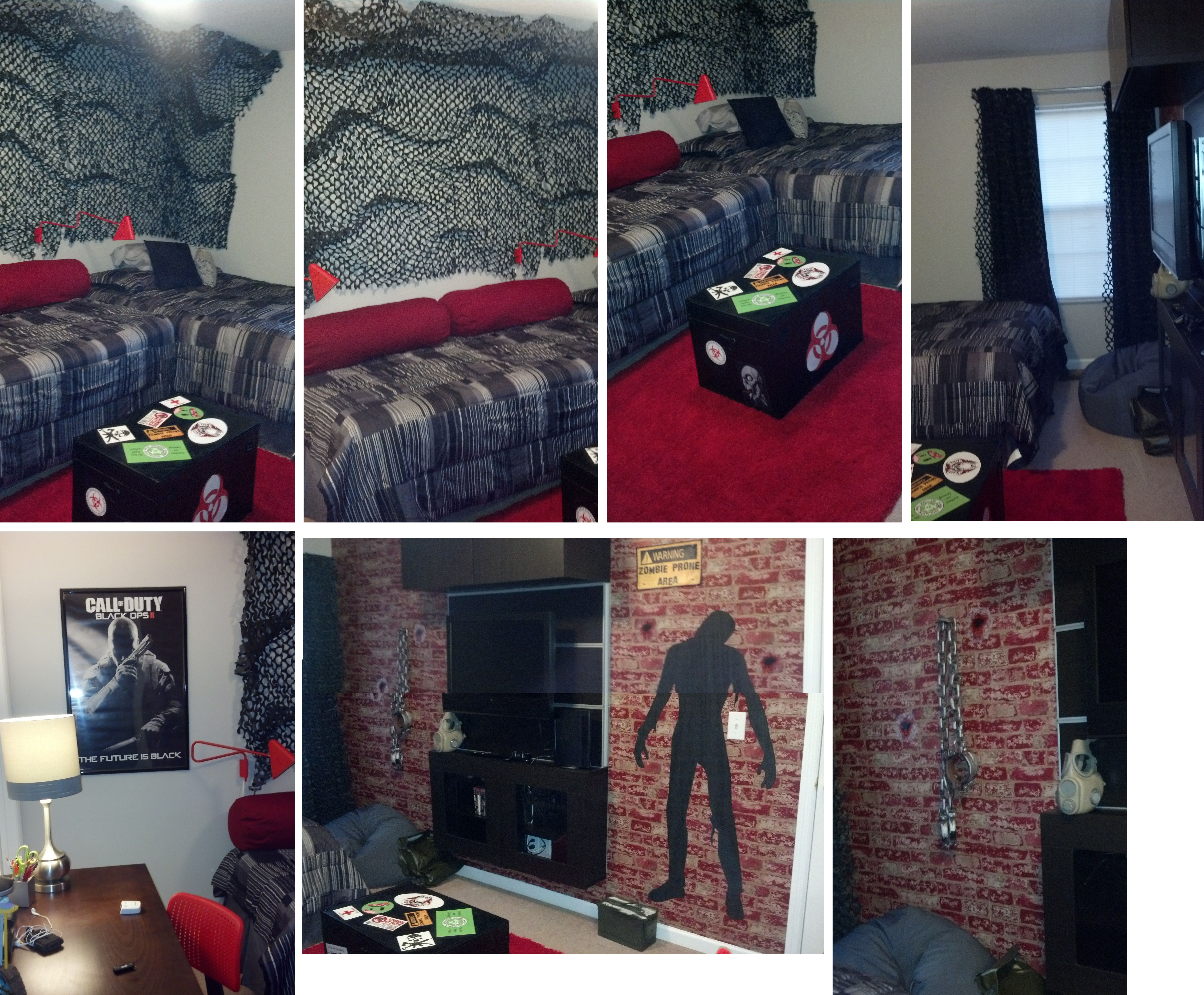 Delectable 90 call of duty black ops room decor for Black ops 3 decorations