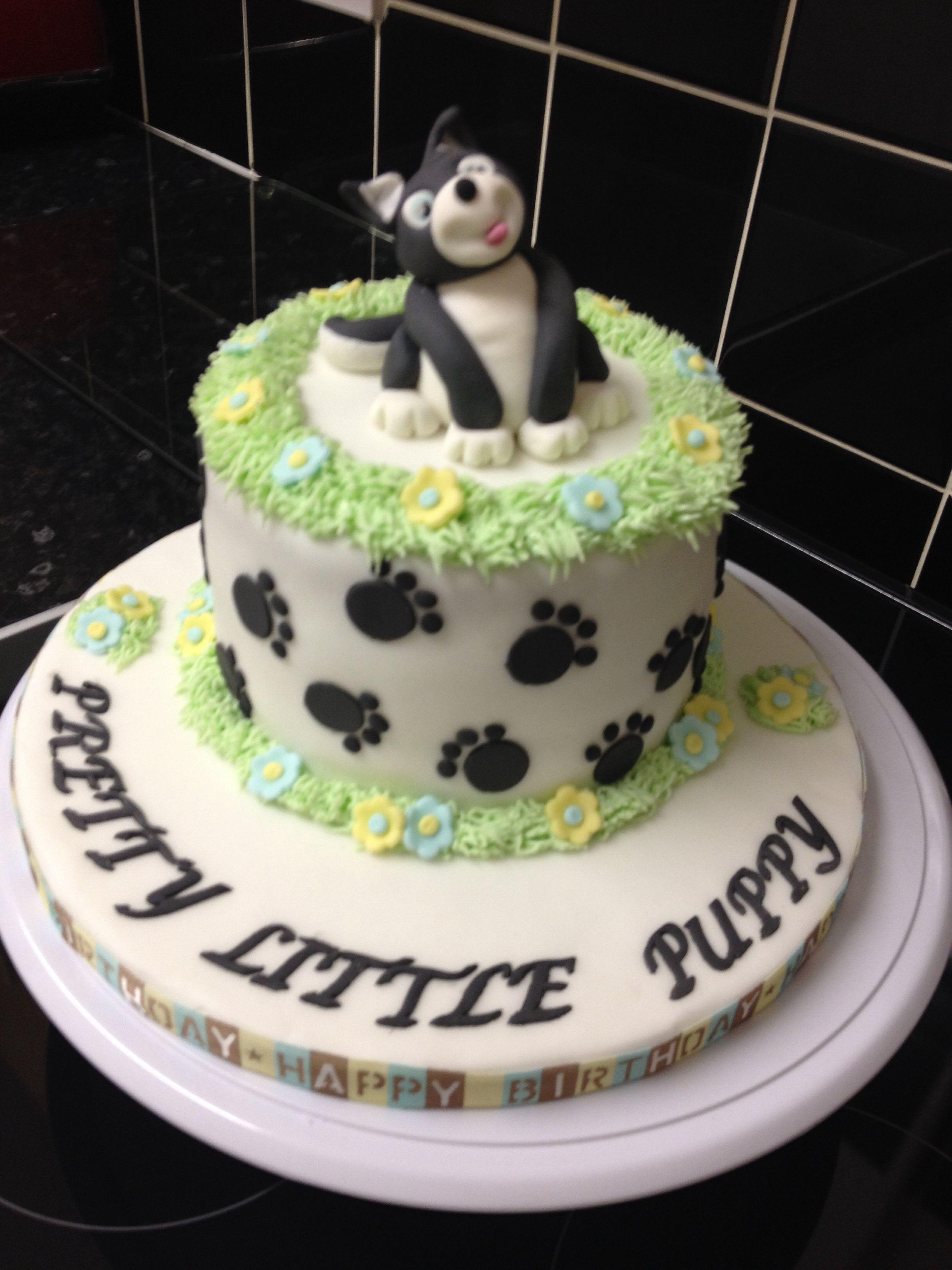 Doggy birthday cake with images cake birthday cake