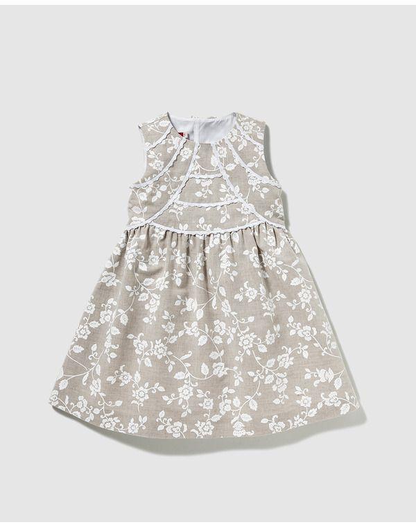 Image for Tizzas girls\' natural linen dress from El Corte Inglés UK ...