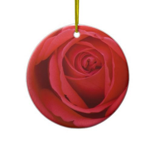 Lovely Merry Red Rose Christmas Ornament by Florals by Fred ...