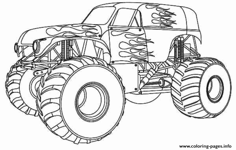 Monster Truck Color Page Beautiful Avenger Monster Truck Coloring Pages New Monster Jam Monster Truck Coloring Pages Truck Coloring Pages Cars Coloring Pages
