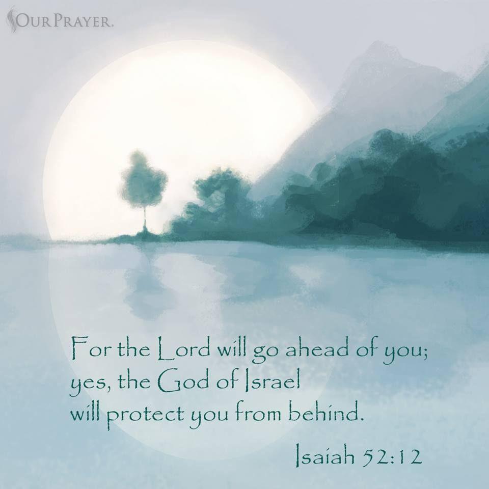 Isaiah 52:12 | Inspirational scripture, Isaiah 52, Isaiah