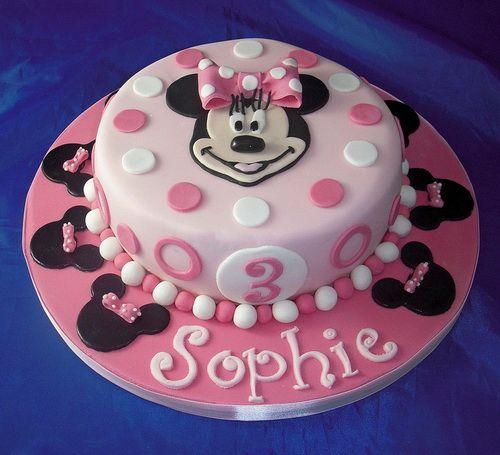 Enjoyable Minnie Mouse Birthday Cake With Images Minnie Mouse Birthday Personalised Birthday Cards Paralily Jamesorg