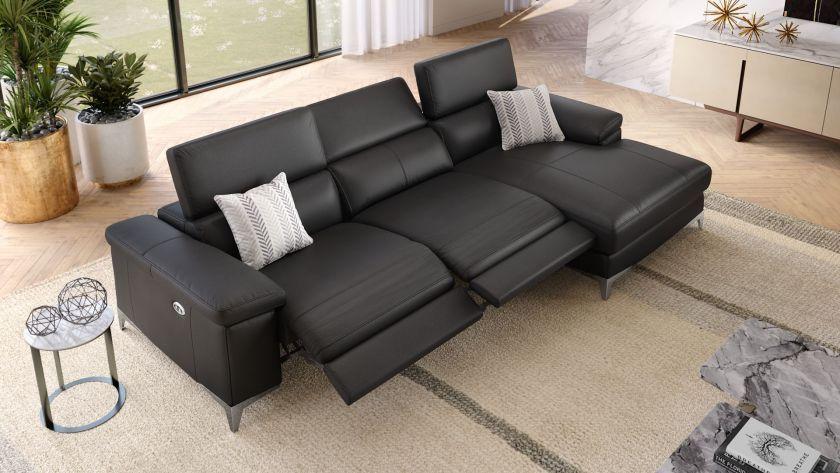 Das Ecksofa Venosa Imponiert Mit Seinem Erstklassigen Sitzkomfort Lassen Sie Sich Von Der Leder Eckcouch Mit Relaxfunktion Begeistern Haus Wohnen Sofa