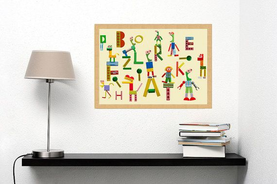 Kids poster, Art for kids, Children wall art, Nursery Art - ABC ...